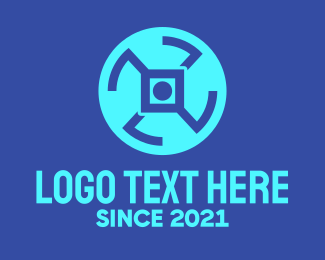 Wheel - Digital Tech Wheel logo design