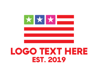 Travel - USA Flag App logo design