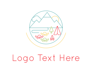 Backpacking - Summer Camp logo design
