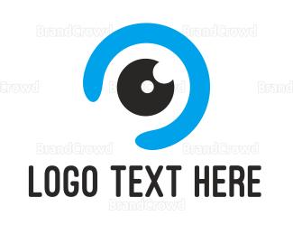 Eye Care - Blue Eye Ball logo design
