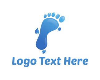 Footprint - Water Foot logo design
