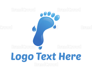 Wet - Water Foot logo design
