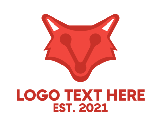 Webhosting - Data Fox logo design