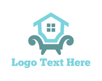 Sofa - Home Furniture logo design