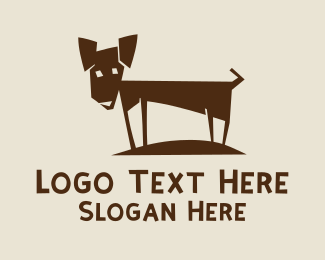 Dog Head - Skinny Pet Dog logo design
