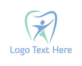 Endodontics - Blue Tooth Dentist logo design