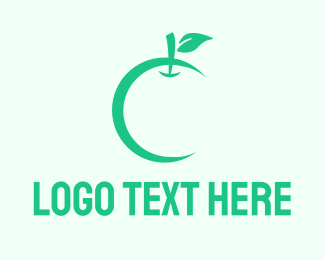 Grocery - Green Apple logo design