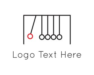 Gravity - Red Pendulum logo design