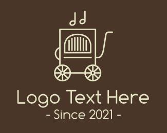 Quarter Note - Vintage Classic Jukebox logo design