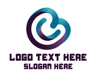 Technology - Round Gradient Letter C  logo design