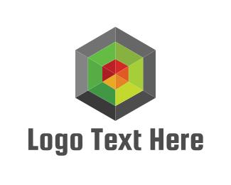 Point - Geometric Target logo design