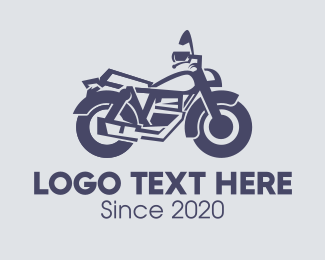 Motorcycle Dealer - Gray Motorbike logo design