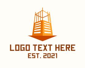 Real Estate - Condominium Building Construction logo design