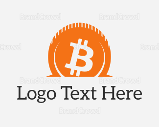 Crypto - Bitcoin Contribute logo design