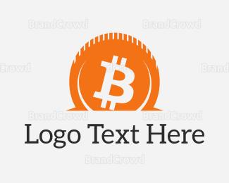 Blockchain - Bitcoin Contribute logo design