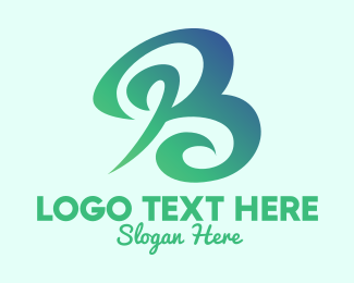 Cosmetic - Botanical Green Letter B  logo design