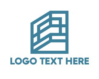 Investment - Blue Shelf Frame House logo design