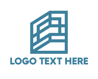 Structure - Blue Shelf Frame House logo design