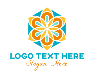 Supplements - Floral Flower Hexagon logo design