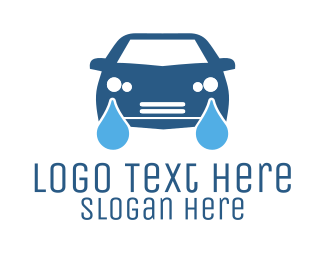 Blue Car - Car Wash logo design