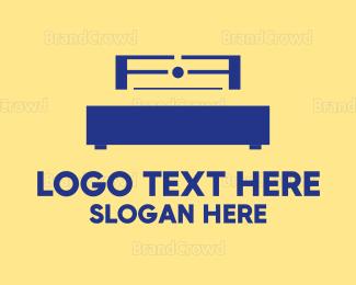 Bed - Black Bed logo design