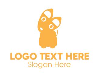 Chihuahua - Small Yellow Puppy Dog logo design