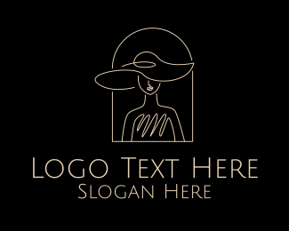 Elegant - Elegant Woman Hat logo design