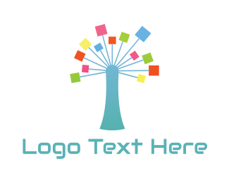 Wish - Network Tree logo design