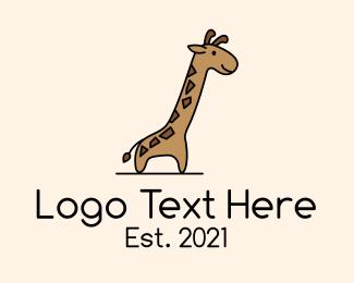 """""""Giraffe Safari Cartoon"""" by FishDesigns61025"""