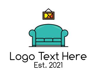 Living Room - Living Home Improvement logo design