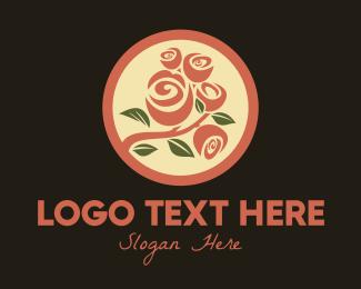 Flower Market - Rose Flower Bouquet logo design