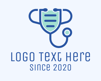 Surgical Face Mask - Medical Face Mask Stethoscope logo design