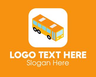 School Bus - Bus Mobile Application logo design
