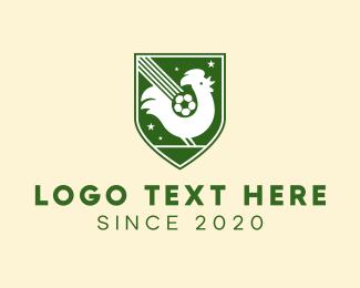 Sport Equipment - Rooster Soccer Emblem logo design