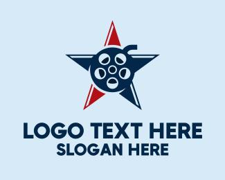 Cinematic - American Star Film logo design