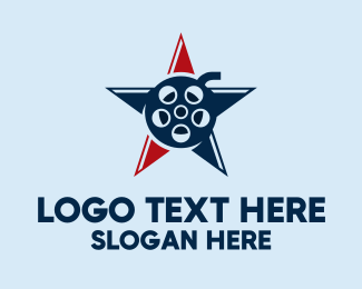 Actor - American Star Film logo design