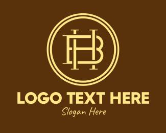 Mens Clothing - Rustic Monogram H & B logo design