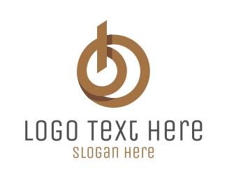 Modern Letter B Logo