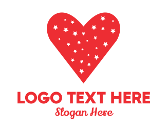 Valentines Day - Starry Heart logo design