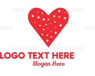 Couple - Starry Heart logo design
