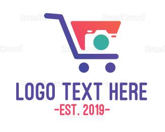 Cart - Modern Camera Shopping logo design