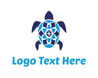 Turtle - Sea Turtle logo design