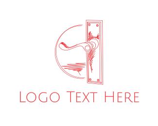 50s - Vintage Door Handle logo design