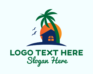 Inn - Rural Island House logo design