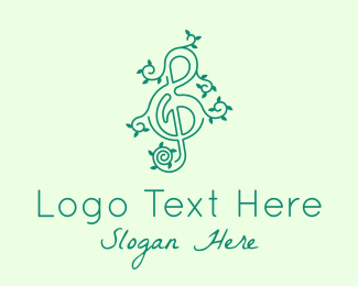 Vine - Music Vine Leaves logo design