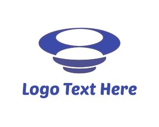 Dish - Blue Tornado logo design