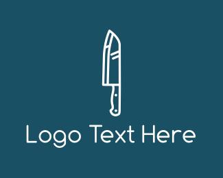 Butcher - White Knife logo design