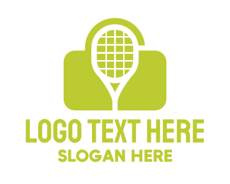 Court - Green Tennis Lock logo design