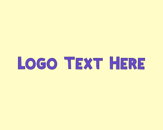 Babysitter - Purple Cute Text logo design