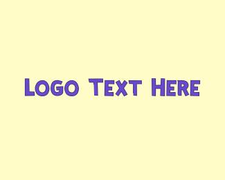 Acronym - Purple Cute Text logo design
